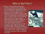 who is karl marx