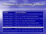 revelation in lectionary sundays