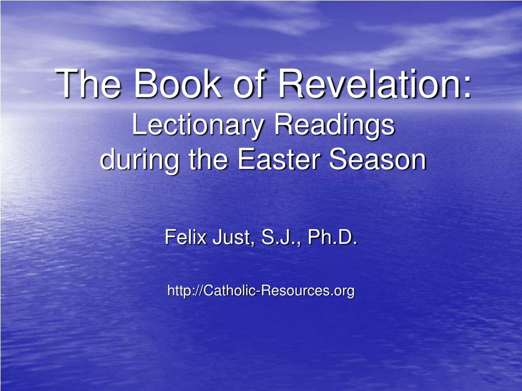 the book of revelation lectionary readings during the easter season l.