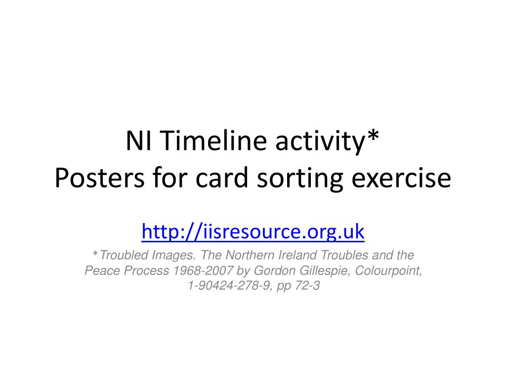 ni timeline activity posters for card sorting exercise l.