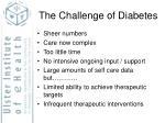 the challenge of diabetes
