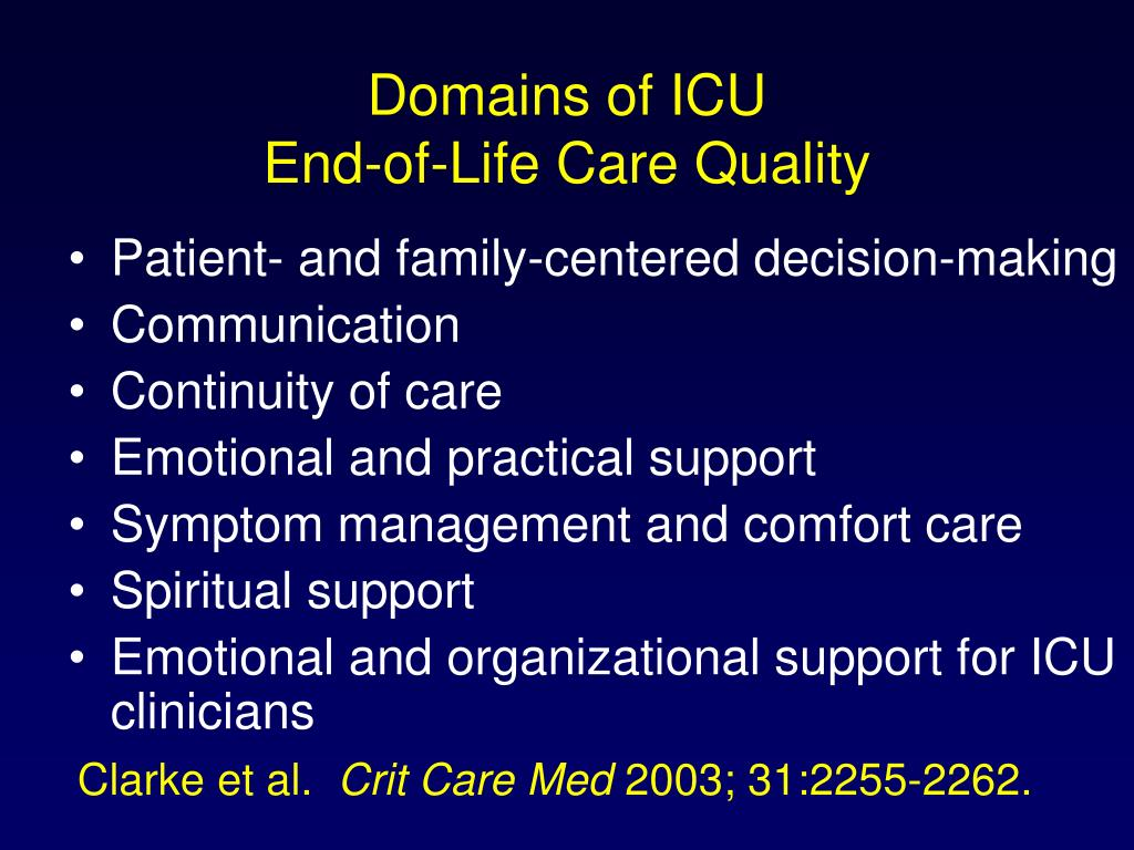 Domains of ICU
