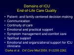domains of icu end of life care quality