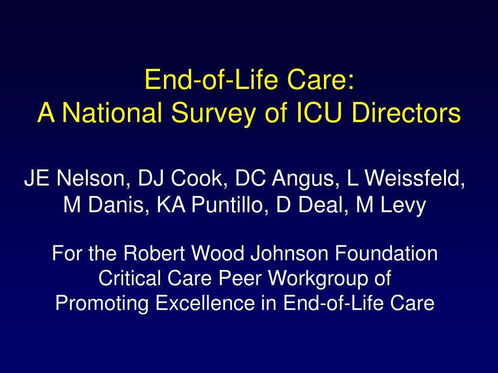 End-of-Life Care: