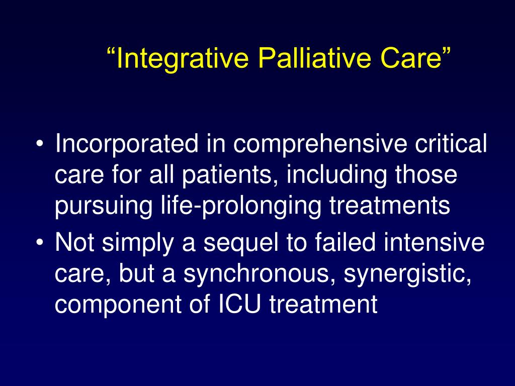 """Integrative Palliative Care"""