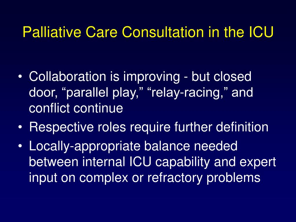 Palliative Care Consultation in the ICU