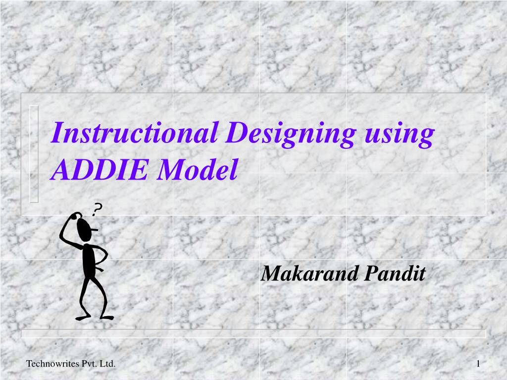 instructional designing using addie model l.