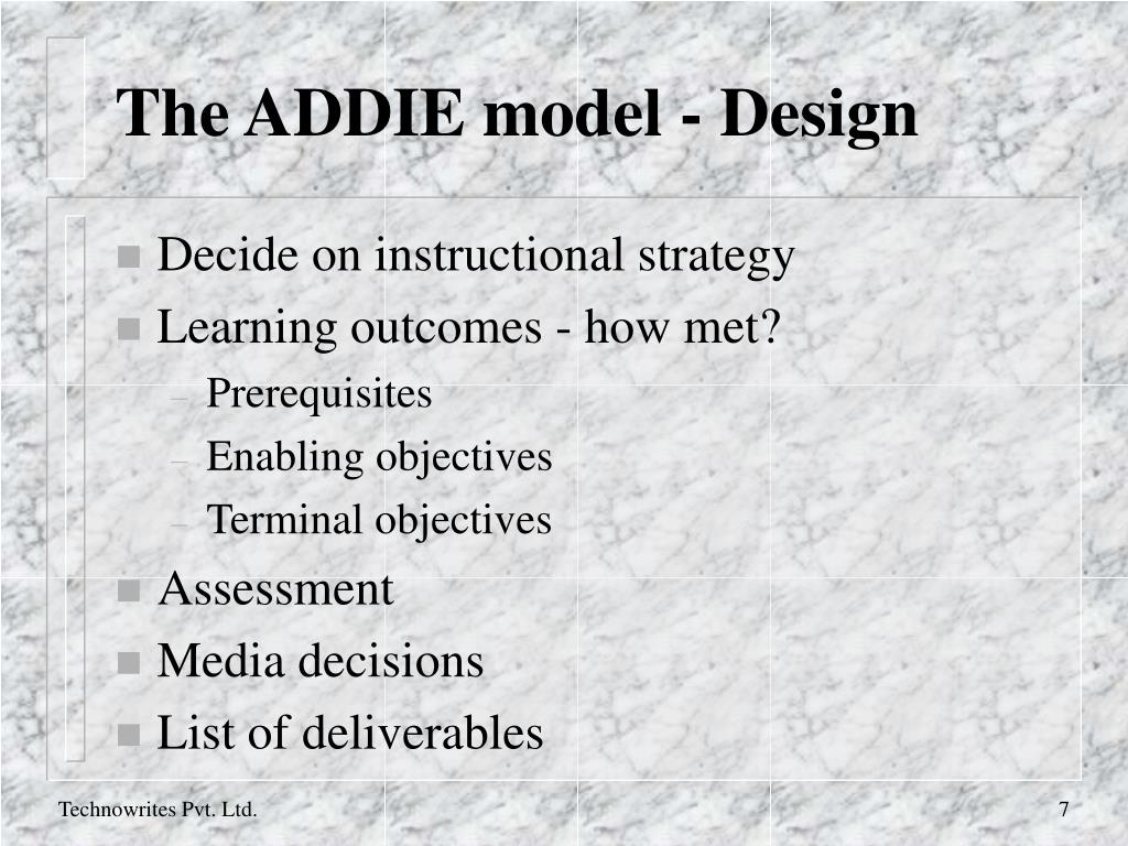 The ADDIE model - Design