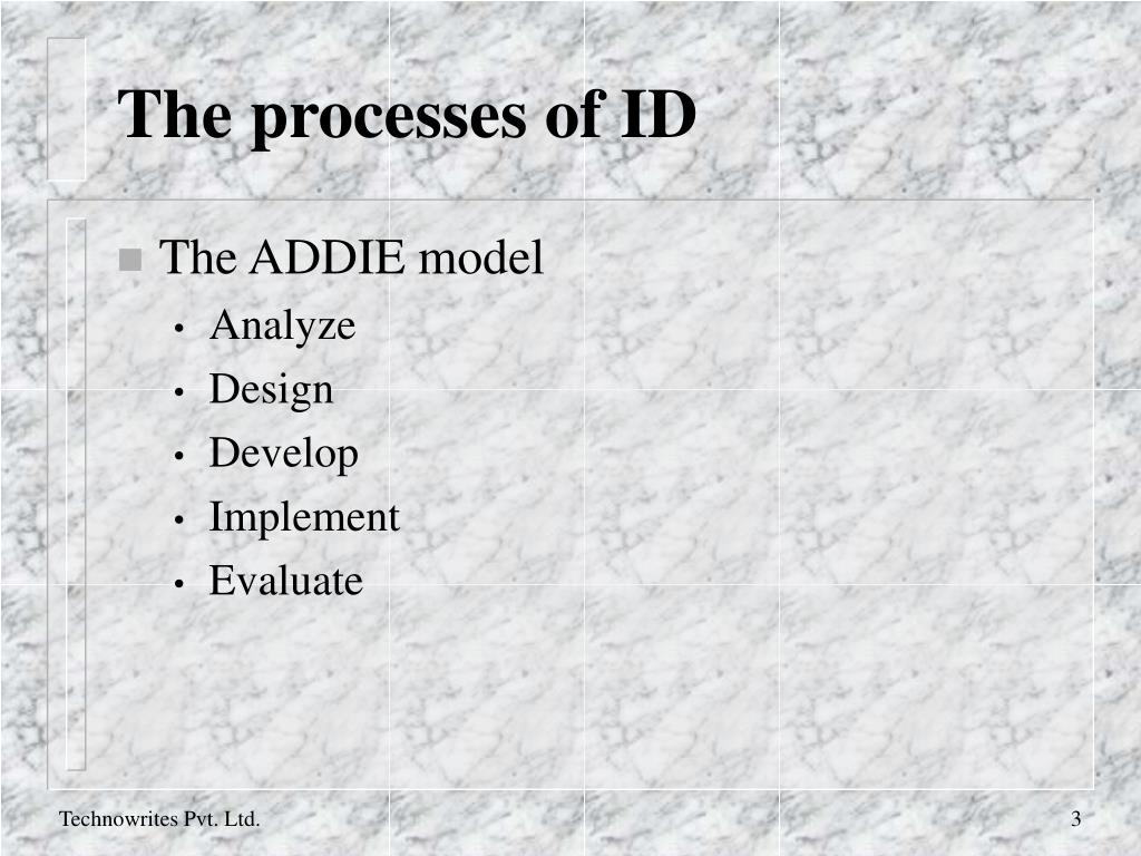The processes of ID