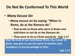do not be conformed to this world10