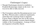charlemagne s legacy
