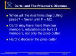 cartel and the prisoner s dilemma