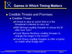 games in which timing matters41