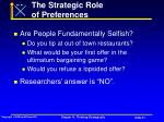the strategic role of preferences51