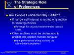 the strategic role of preferences52