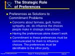 the strategic role of preferences53