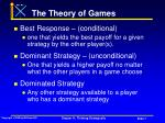 the theory of games7
