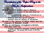 contributions of the culper ring to the war for independence