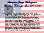 letter from george washington to benjamin tallmadge june 27 th 177934