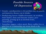 possible sources of depression