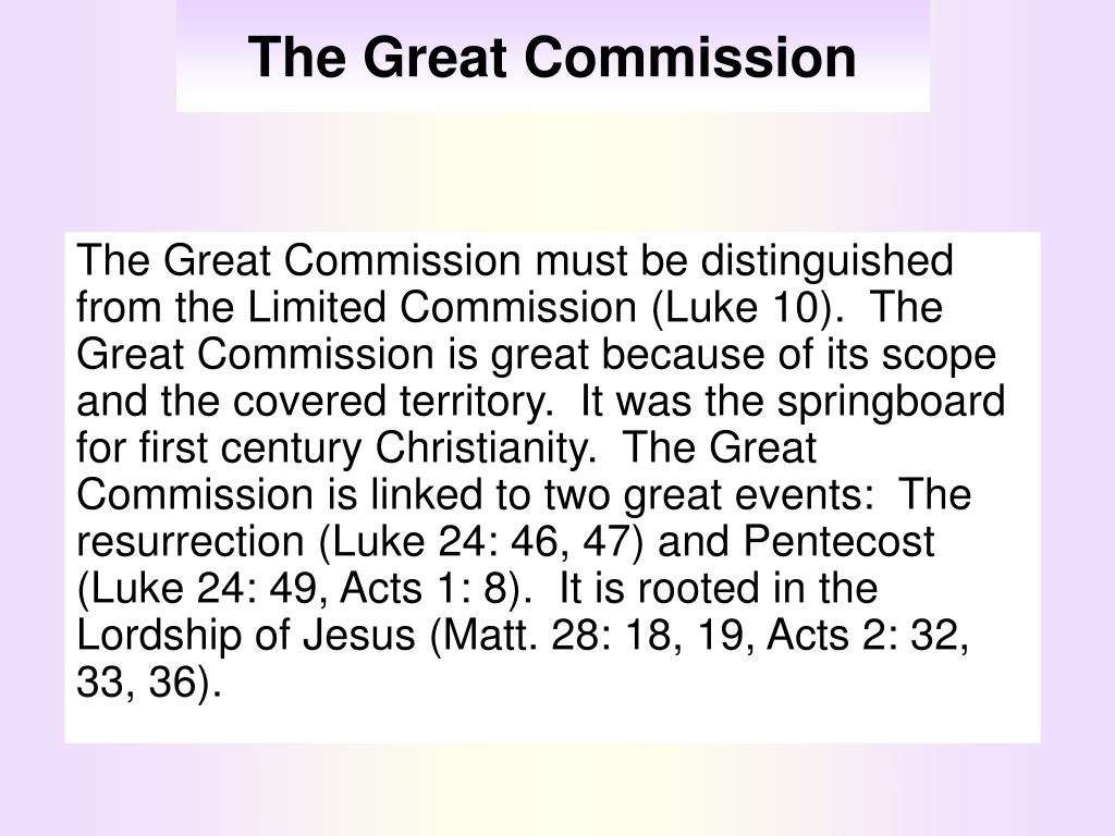 the great commission l.