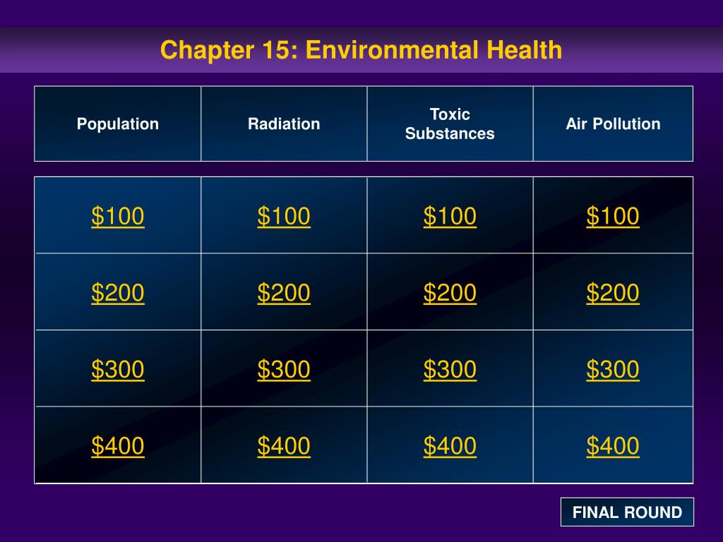 chapter 15 environmental health l.