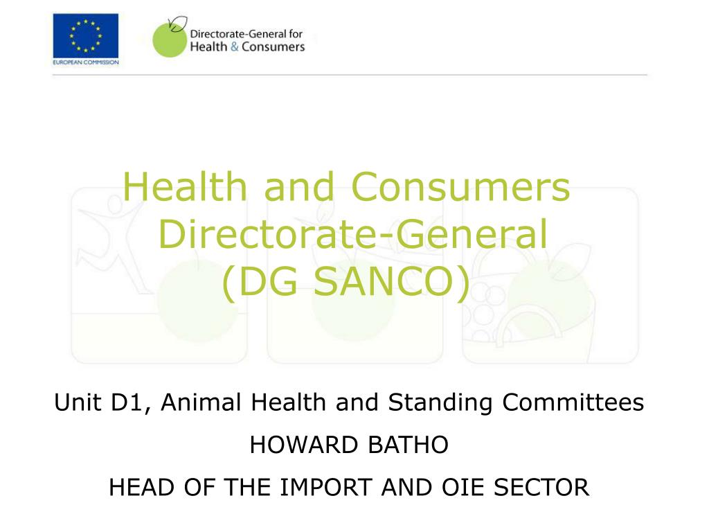 health and consumers directorate general dg sanco l.