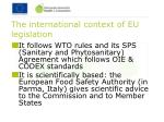 the international context of eu legislation