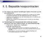 ii 5 bepaalde koopcontracten