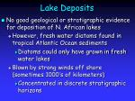 lake deposits