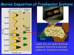 marine deposition of freshwater diatoms