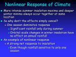 nonlinear response of climate