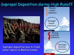 sapropel deposition during high runoff