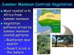 summer monsoon controls vegetation