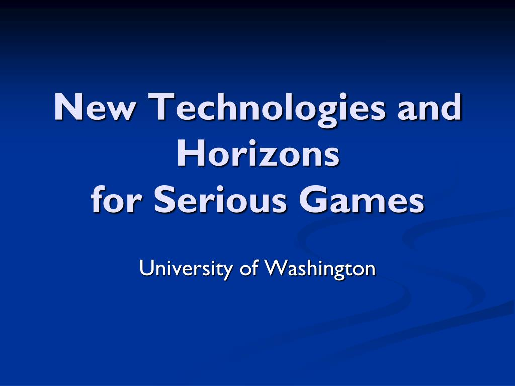 new technologies and horizons for serious games l.