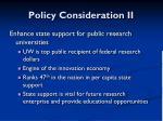policy consideration ii