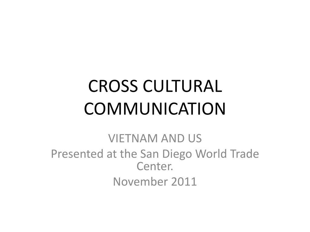 cross cultural communication l.