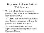 depression scales for patients with dementia57
