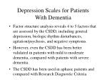 depression scales for patients with dementia58