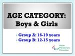 age category boys girls