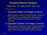 forward market hedges objective to nullify future spot rate