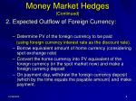 money market hedges continued