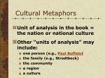 cultural metaphors6