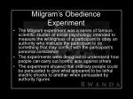 milgram s obedience experiment