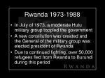 rwanda 1973 1988