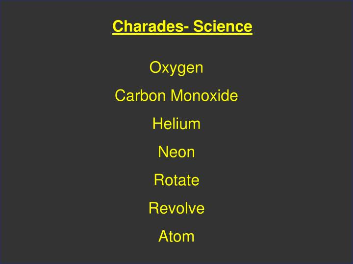 Charades- Science