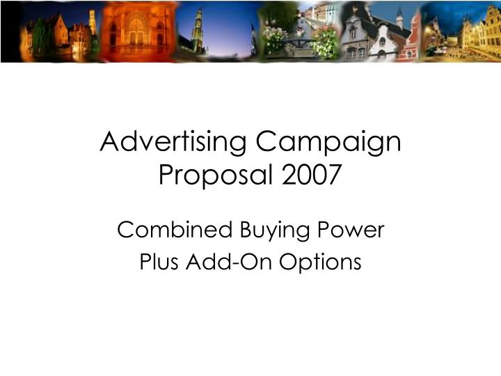 advertising campaign proposal 2007 n.