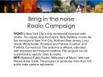 bring in the noise radio campaign
