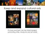 keep and expand cultural ads