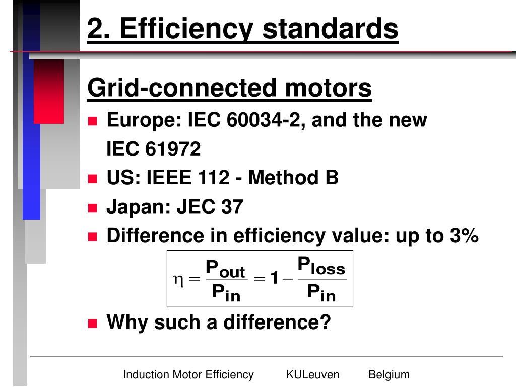 2. Efficiency standards